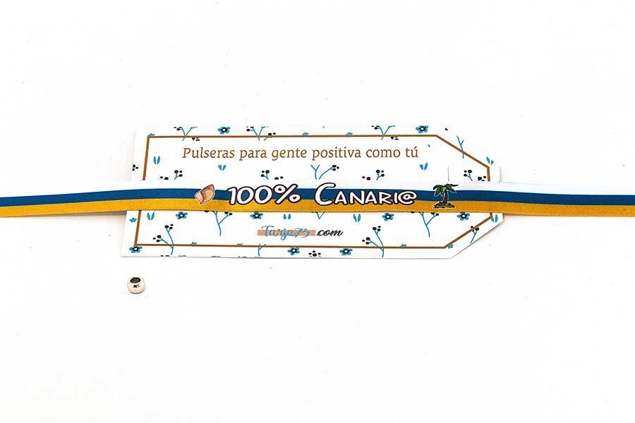 Pulsera de tela personalizada canario 100%