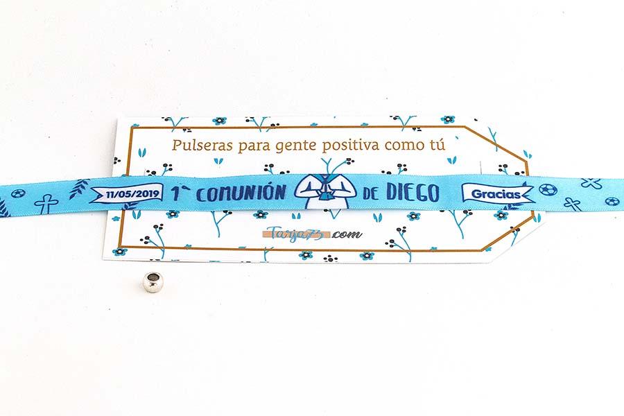 Pulsera de tela personalizada de comunión chico