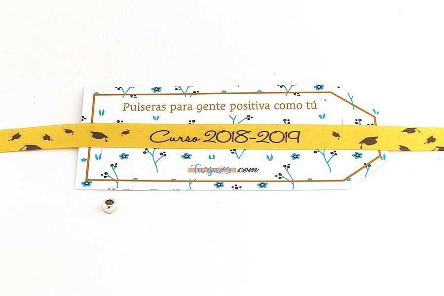 Pulsera de tela personalizada para graduaciones