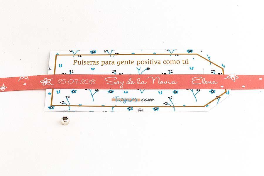 Pulsera de tela personalizada para la novia2