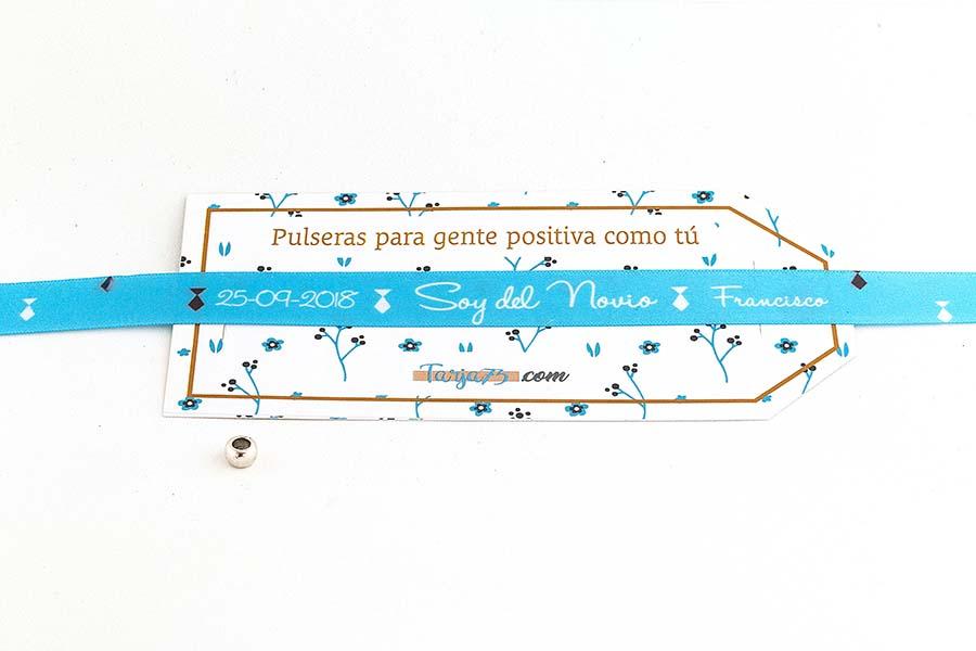 Pulsera de tela personalizada para la novio2