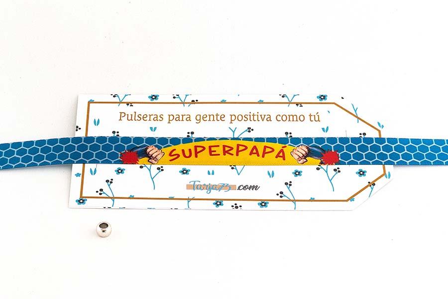 Pulsera de tela personalizada superpapa